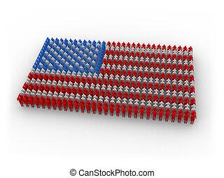 Human US flag