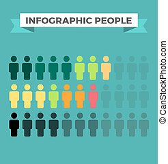 Human vector icons infographic design elements