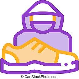 human, vetorial, esboço, sapatos, ícone, ladrão lojas, ilustração