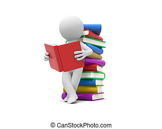 Human with books