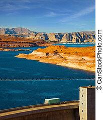 Glen Canyon Dam across the Colorado River