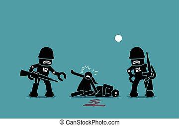 humanity., soldaten, roboter, erobern