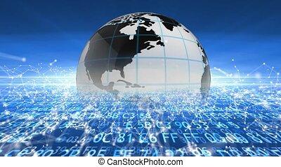 Humanity's global network of technology progress. 108 -...