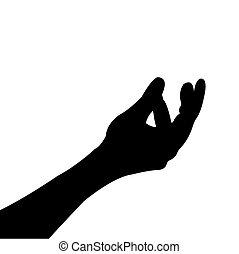 humano, hand.vector, ilustración