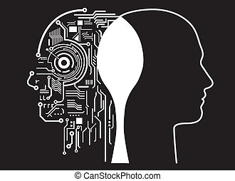 humano, inteligencia, fusión