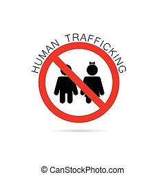 humano, tráfico, ilustración, señal