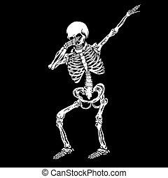 humano, vector, dabbing, esqueleto, ilustración