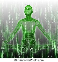 humanoid, grafické pozadí