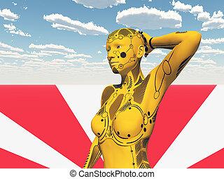 humanoid, robot