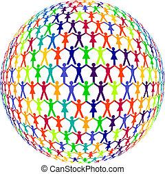humanos, colorido