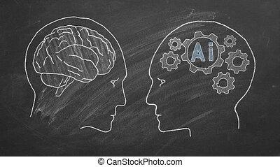 Humans vs Robots - Human intelligence vs artificial ...