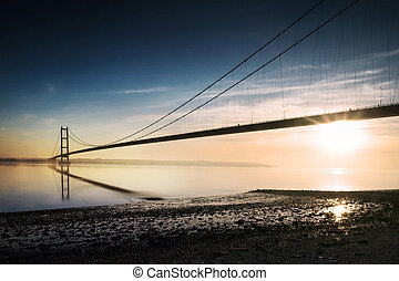 Humber Bridge - Bridge crossing the river humber