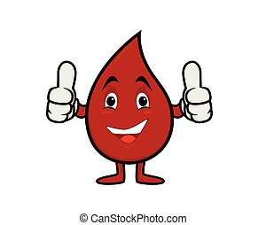 Humbly and Friendly Blood Recommending Gesture Vector