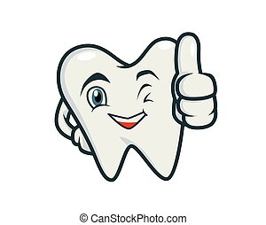 Humbly and Friendly Tooth Recommending Gesture Vector