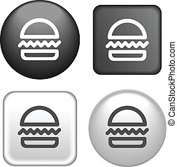 humburger Icon on Buttons Collection