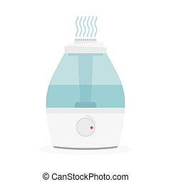 humidifier for room. Flat vector Ultrasonic humidifier. Air...