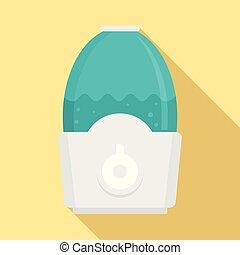 Humidifier icon, flat style - Humidifier icon. Flat...