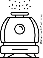 Humidifier icon, outline style - Humidifier icon. Outline...