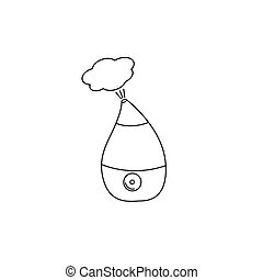 Humidifier outline icon vector isolated on white background