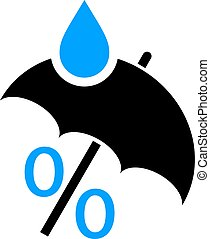 Humidity abstract vector logo