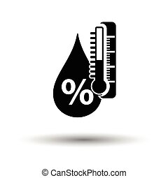 Humidity icon. White background with shadow design. Vector...
