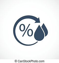 Humidity vector pictogram on white background