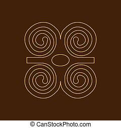 Humility with strength or symbol of wisdowm adinkra symbol....