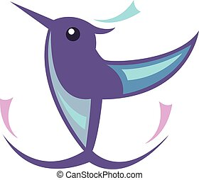 humming, pássaro, ícone