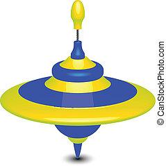 humming-top, vektor, illustration