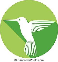 hummingbird flat icon (colibri)