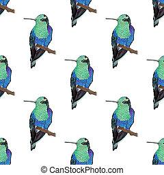 Hummingbird, seamless pattern - Hummingbird. Seamless...