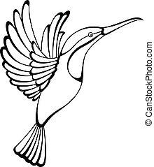 hummingbird tattoo - Vector illustration of hummingbird...