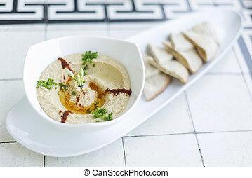 hummus houmous middle east vegetarian chickpea dip snack food