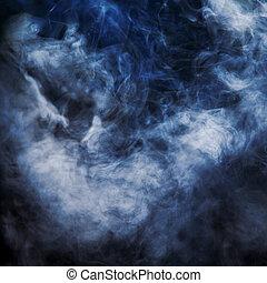 humo, iluminado, rayo, de, light.