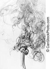 humo, plano de fondo, textura