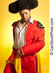 Humor, amarillo, torero, colores, valor, español, rojo