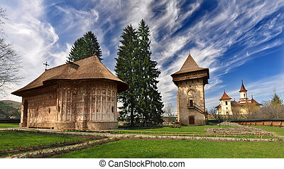 Humor Monastery, Romania, view from exterior