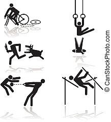 humor, olympische spiele, -, 1
