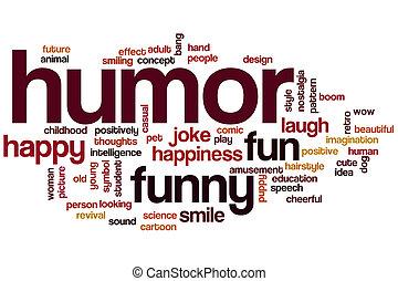 humor, palabra, nube