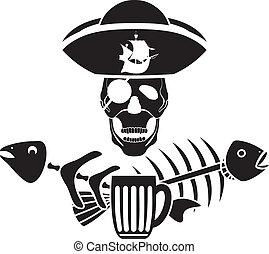 Humor piracy tavern symbol stencil