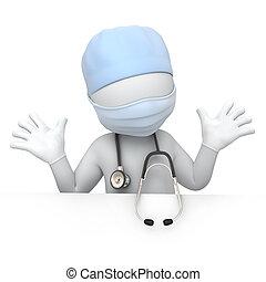 humoristisk, läkare