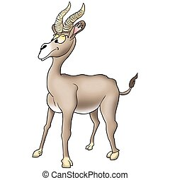 Humorous antelope - Antelope 03 - High detailed and coloured...