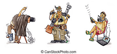 history of photography - humorous illustration of history of...