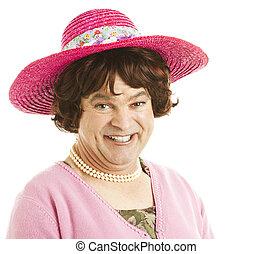 Humorous Tranvestite - Humorous portrait of a transvestite...