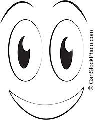 humour, comiques, dessin animé, faces, ou