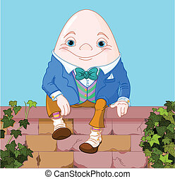 Humpty Dumpty egg sitting on a brick wall