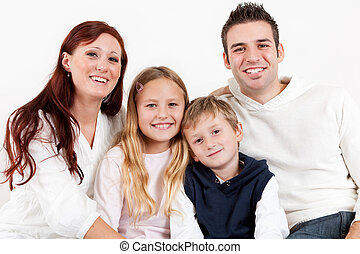 hun, kinderen, gezin, vrolijke