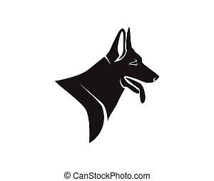 hund, djuren, älsklingsdjur, logo, och, symboler