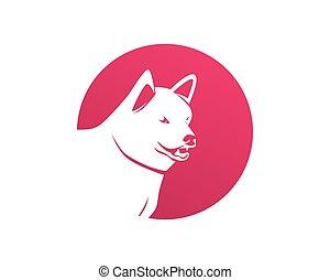 hund, djuren, logo, älsklingsdjur, butik, mall, ikonen, app