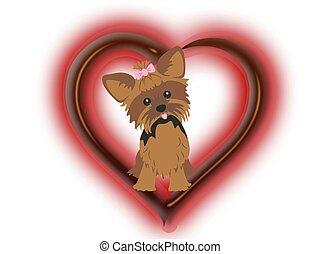 Hund, Herz, Liebe - hund, herz, liebe, logo, grafik